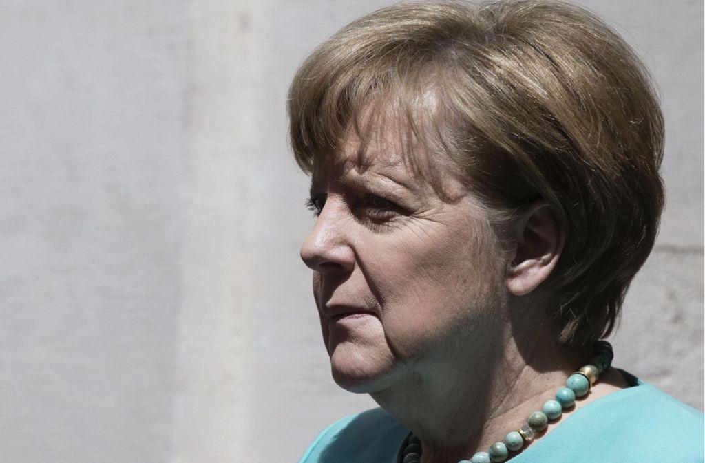 Sie erhob den Weiterbau von Stuttgart 21 zur Zukunftsfrage Deutschlands: Kanzlerin Angela Merkel. Foto: dpa
