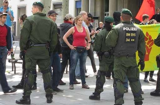 Polizeieinsatz bei Gegendemo