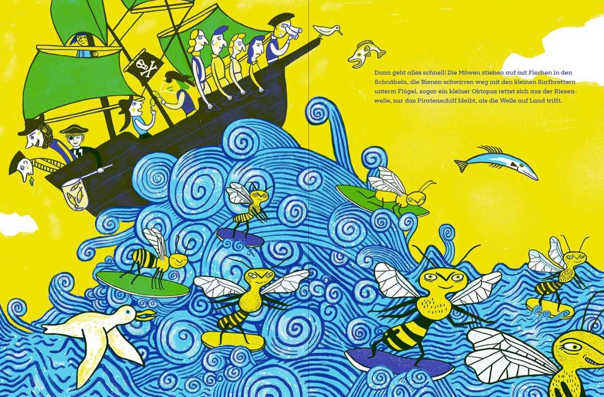 Da ist was los: Die Illustrationen stammen von Katja Spitzer. Foto: Katja Spitzer/Mairsch Verlag