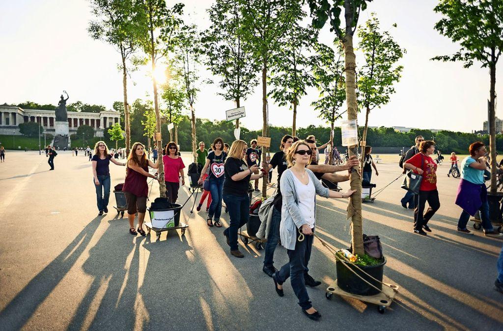 Die Idee der Wanderbaumallee stammt aus München. Foto: Green City e.V.