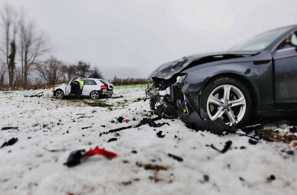 Bei einem Unfall zwischen Alfdorf und Lorch... Foto: 7aktuell.de/ Lermer