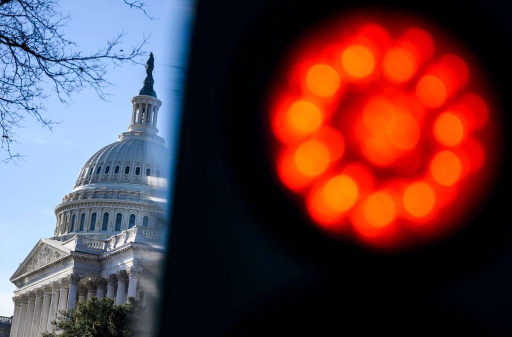 In den USA wachsen die Sorgen vor einem erneuten Shutdown. Foto: AFP