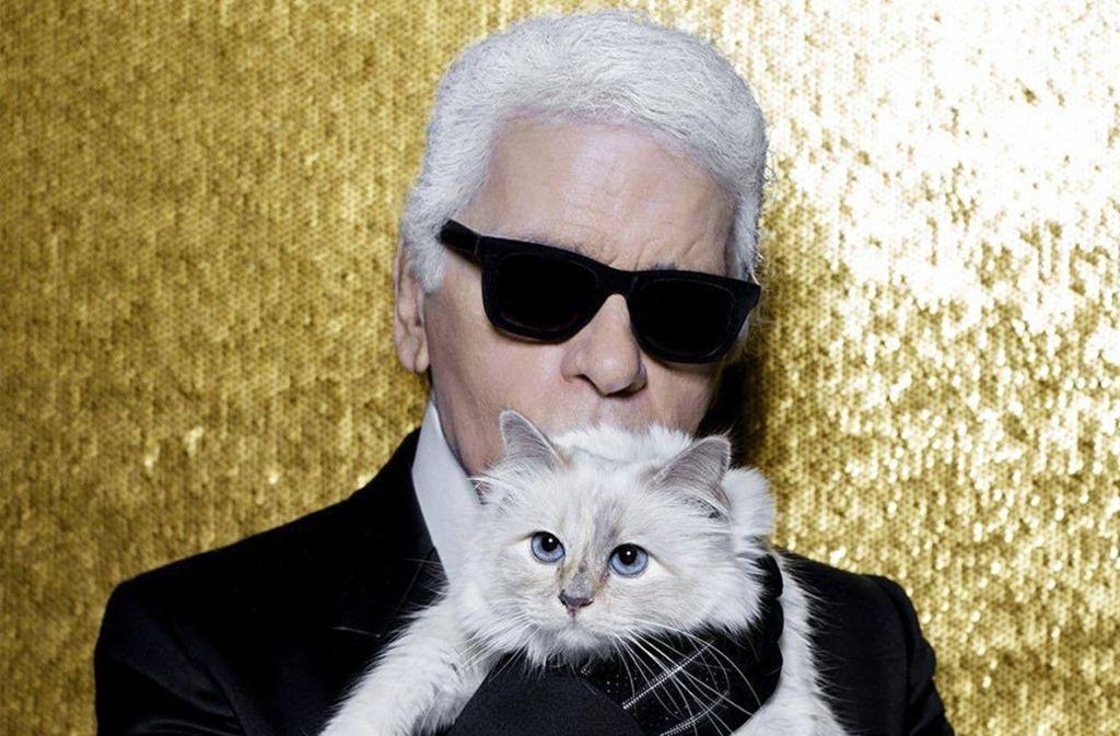 Lagerfeld und seine geliebte Katze Choupette Foto: instagram
