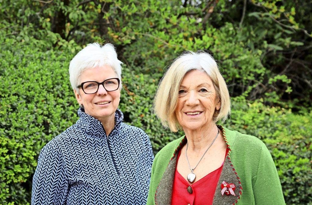 Die Vorsitzenden einer  beeindruckend engagierten Truppe: Bettina Raschke (links) und Barbara Radon Foto: factum/Simon Granville