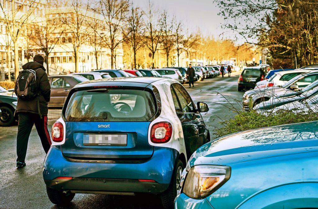 Parkplätze sind auf dem Hohenheimer Unicampus ein rares Gut. Foto: Lichtgut/Max Kovalenko