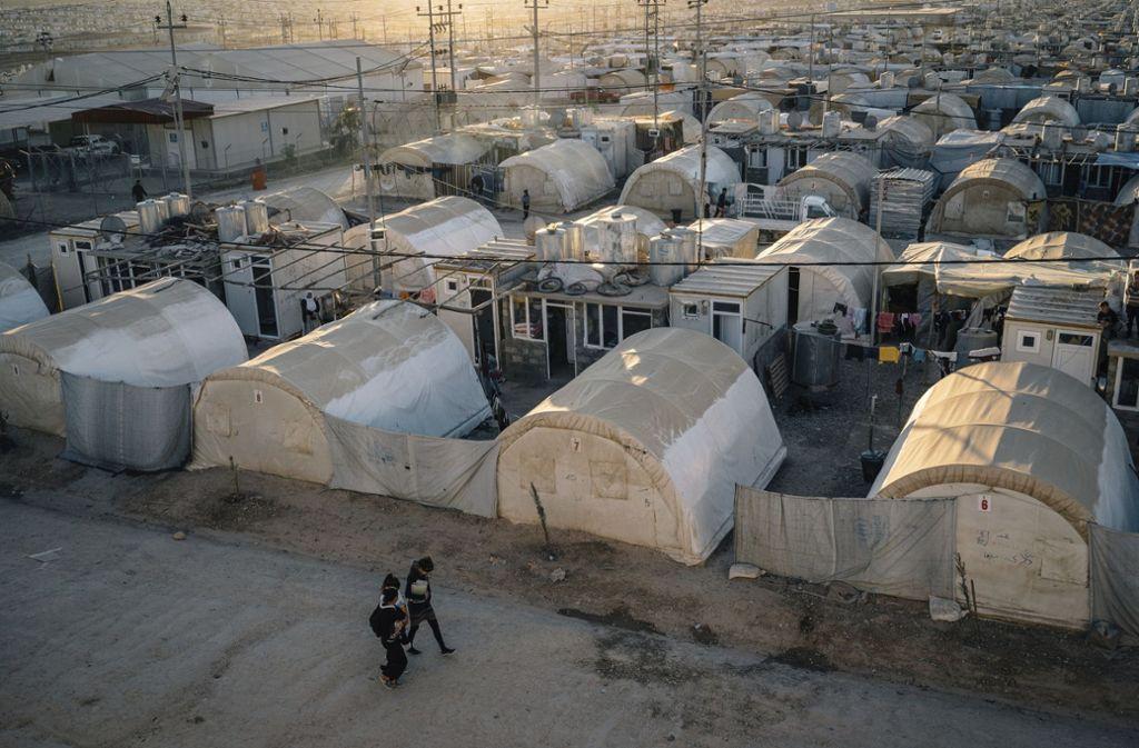 Das Flüchtlingslager Dohuk im Nordirak. Foto: AP