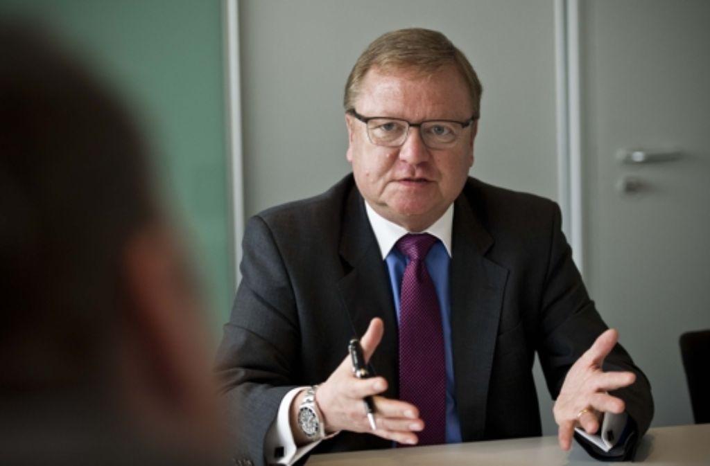 Der Herr der Tunnel und Terminpläne: Manfred Leger ist der mittlerweile fünfte Chef bei Stuttgart21. Foto: Lg/Max Kovalenko