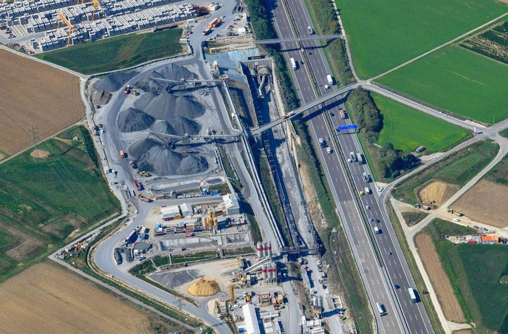 Der Albvorlandtunnel wird von Kirchheim aus in Richtung Wendlingen gegraben. Foto: Arnim Kilgus