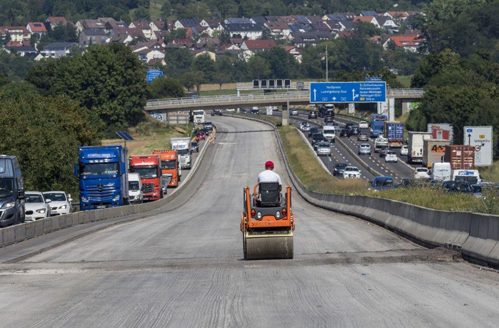 Baustellen in und um Stuttgart – wie hier auf der A 81 – erhitzen die Gemüter. Foto: factum/Weise