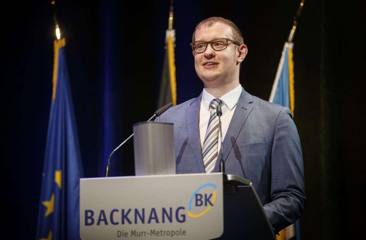 Maximilian Friedrich ist der neue Rathauschef in Backnang Foto: Gottfried Stoppel