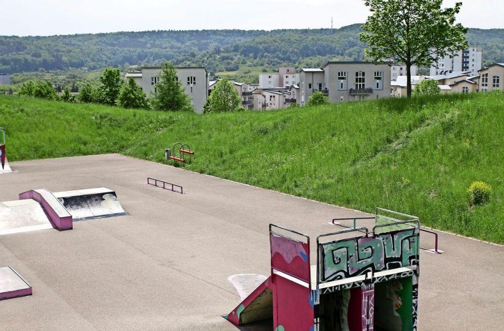 Das Viertel an der Lobensteiner Straße liegt am Stadtpark. Nahe der Skaterbahn könnte ein weiteres Quartier entstehen. Foto: factum/Bach