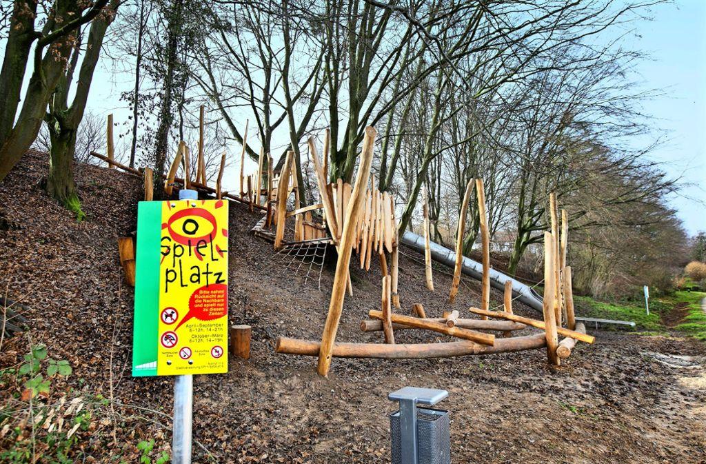 Der Kletterwald an der Breslauer Straße ist der neueste Spielplatz auf Ostfilderner Gemarkung. Foto: Horst Rudel