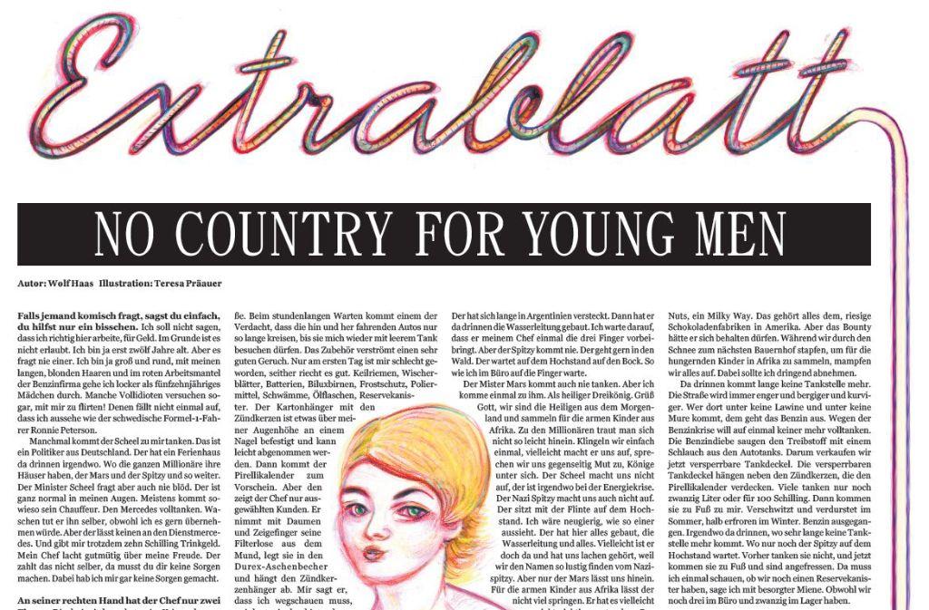 Der dritte Teil der StZ-Serie Extrablatt wurde von Wolf Haas und Teresa Präauer gestaltet. Foto: StZ