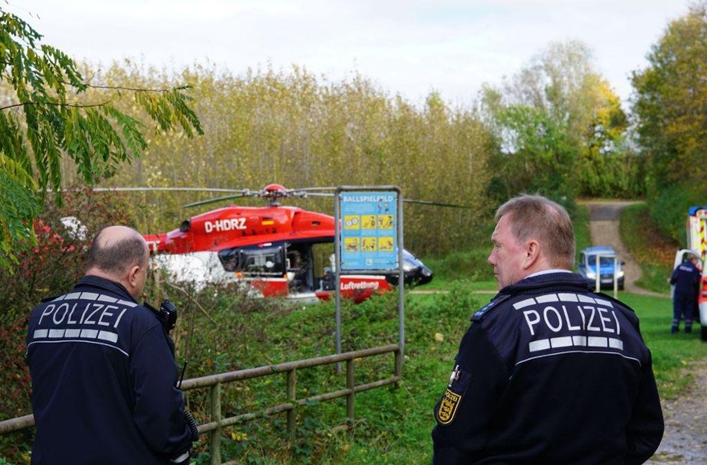 Der schwer verletzte Mann ist mit einem Hubschrauber ins Krankenhaus geflogen worden. Foto: SDMG/SDMG / Krytzner