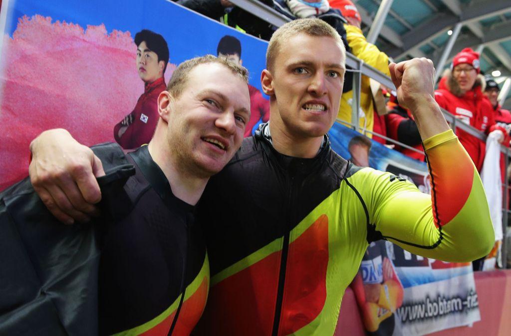 Geschafft! Francesco Friedrich (links) und Thorsten Margis sind Olympiasieger. Foto: Getty