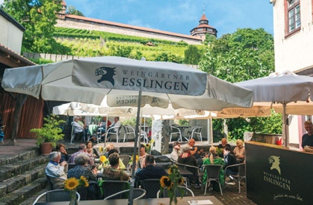 51dd42043de828 ... in Esslingen Neuer Biergarten lockt an den Neckarkanal. Burgblicktreff   Die Weingärtner Esslingen bieten samstags auf einer Außenterrasse für rund  60 ...