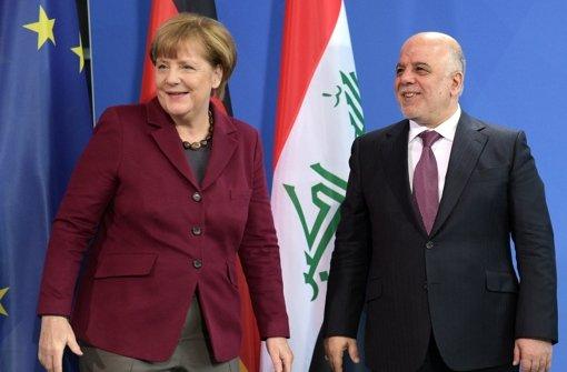 Kanzlerin Merkel sagte dem irakischen Regierungschef al Abadi Hilfe zu. Foto: dpa