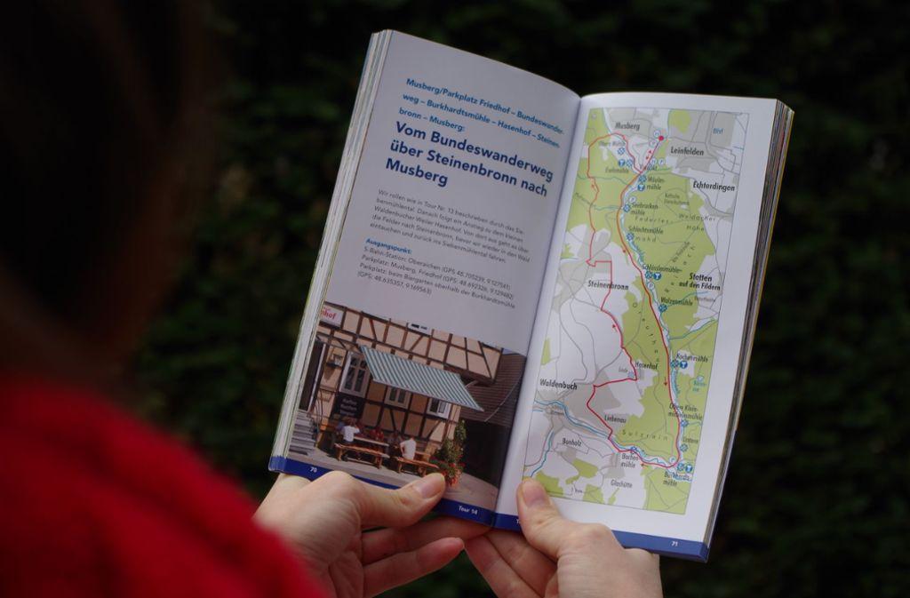 Der Wanderführer   beschreibt unter anderem den Bundeswanderweg, der durch das Siebenmühlental führt Foto: Rüdiger Ott