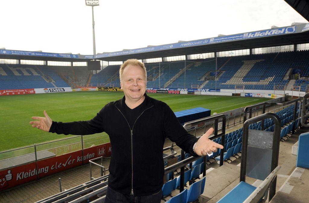 Herbert Grönemeyer singt die Hymne des VfL Bochum. Foto: picture-alliance/ dpa