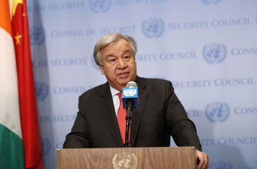 "UN-Generalsekretär warnt vor ""globalem Klima-Chaos"""
