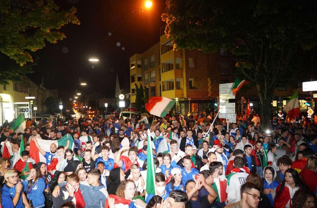 Fellbach hat eine große und partyfreudige italienische Community. Foto: Andreas Rosar Fotoagentur-Stuttgart