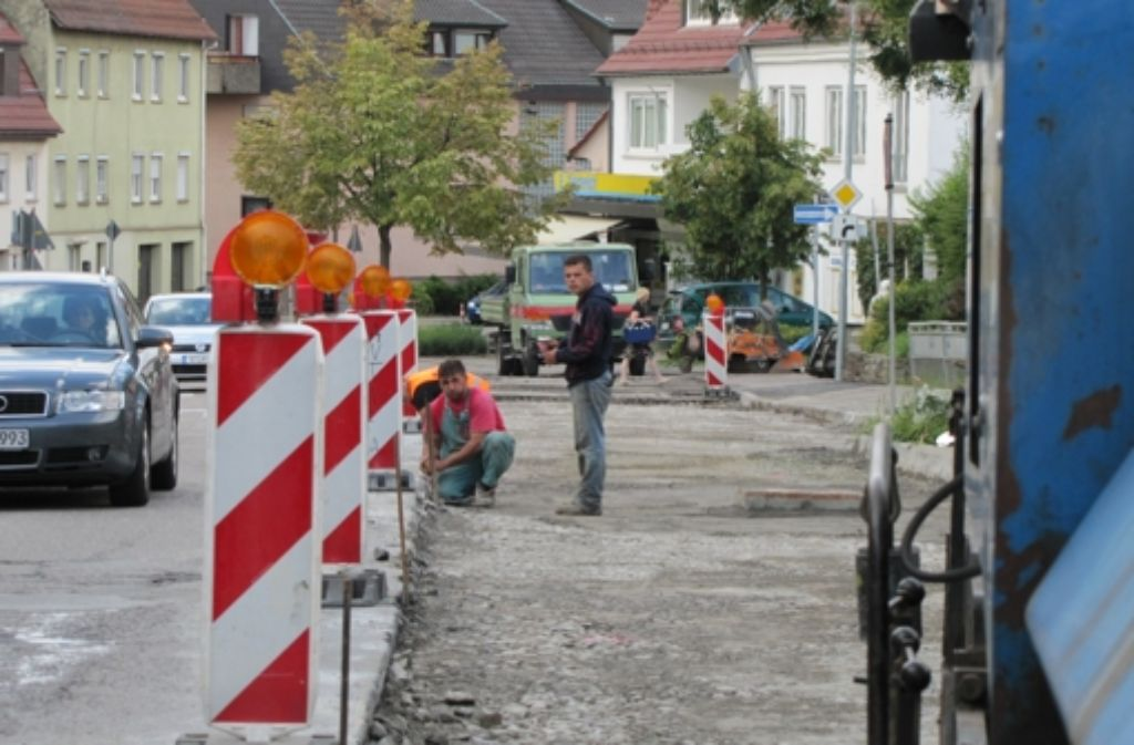 Die Stadtentwässerung Stuttgart wird im Frühjahr 2013 beginnen, den Kanal unter der Schemppstraße zu flicken Foto: Sägesser