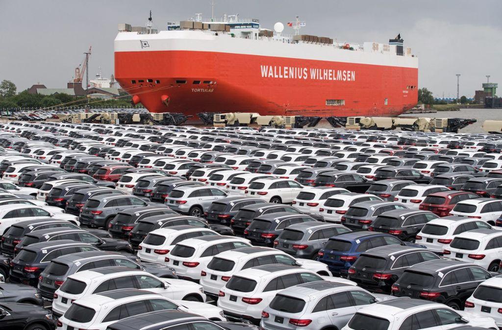 Auch die deutsche Autoindustrie spürt eine sinkende nachfrage aus dem Ausland. Foto: dpa