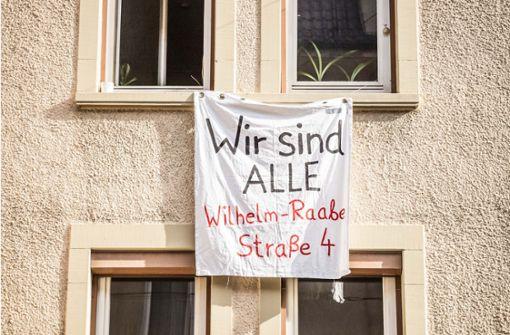 Wohnungen in Heslach bleiben weiterhin besetzt
