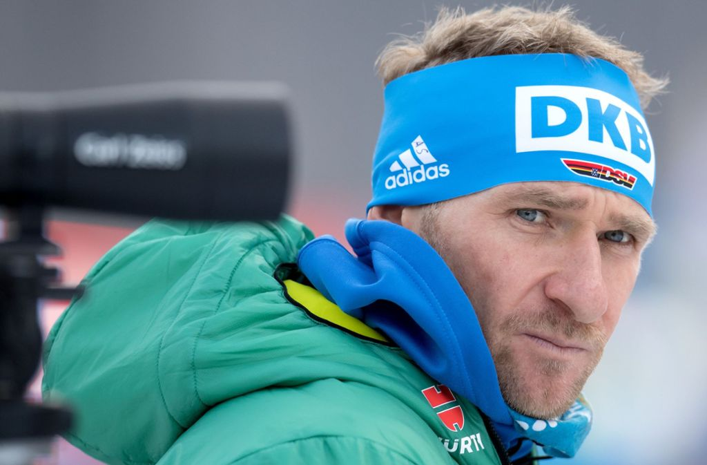 Andreas Stitzl beim Biathlon-Weltcup in Ruhpolding. Foto: dpa