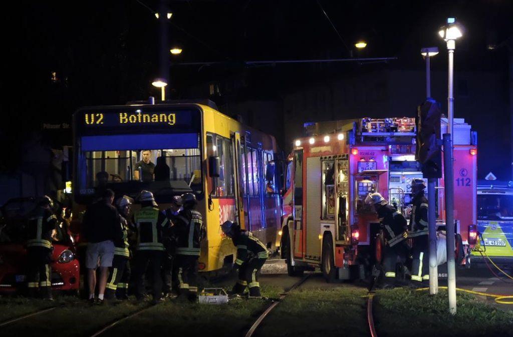 In Bad Cannstatt ereignete sich ein Stadtbahnunfall. Foto: 7aktuell.de/Frank Herlinger