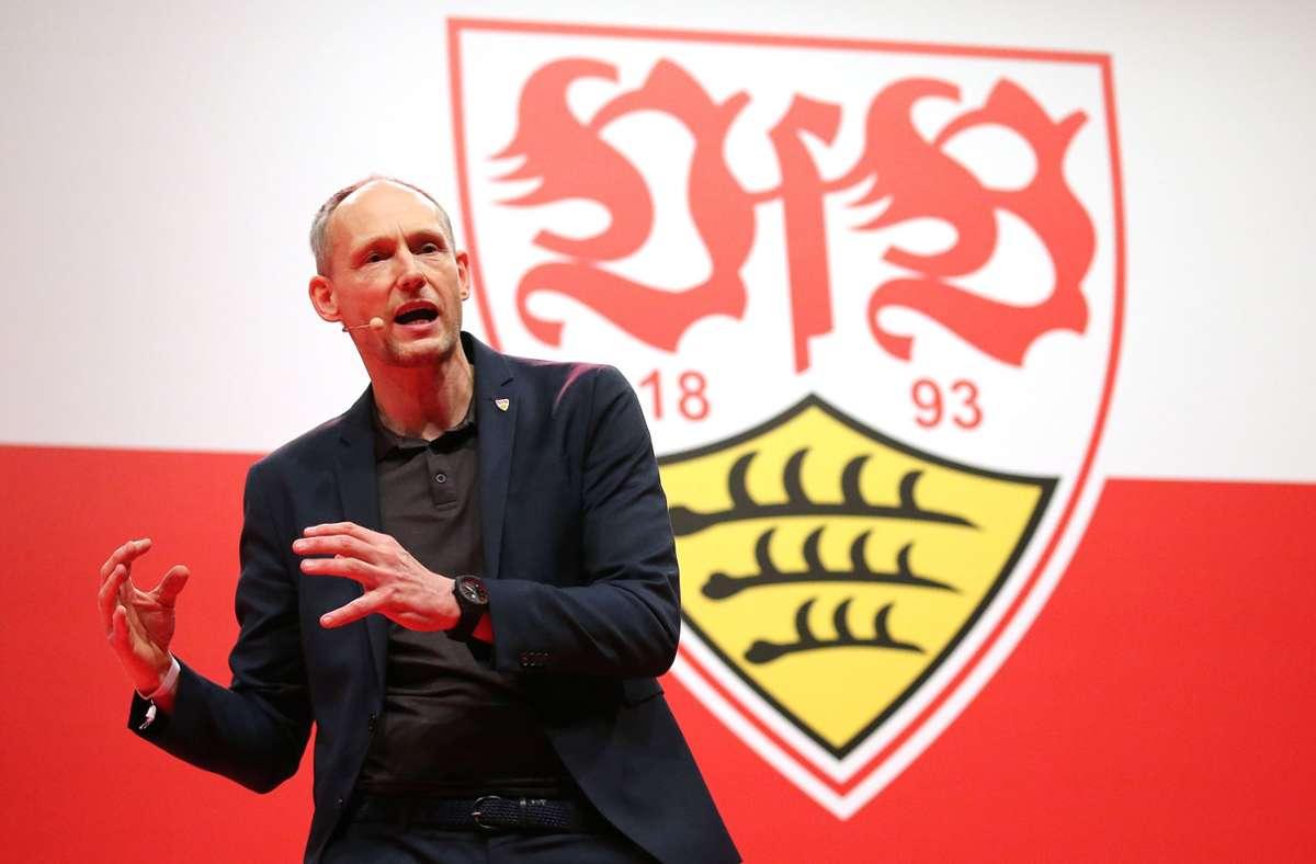 Könnte ein Kandidat für einen der freien Plätze im Vereinsbeirat des VfB Stuttgart sein: Christian Riethmüller, der ehemalige Präsidentschaftskandidat. Foto: Baumann