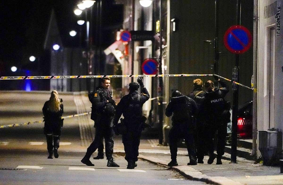 Die Polizei in Norwegen berichtet von fünf Toten und Verletzten nahe Oslo. Foto: dpa/Håkon Mosvold Larsen