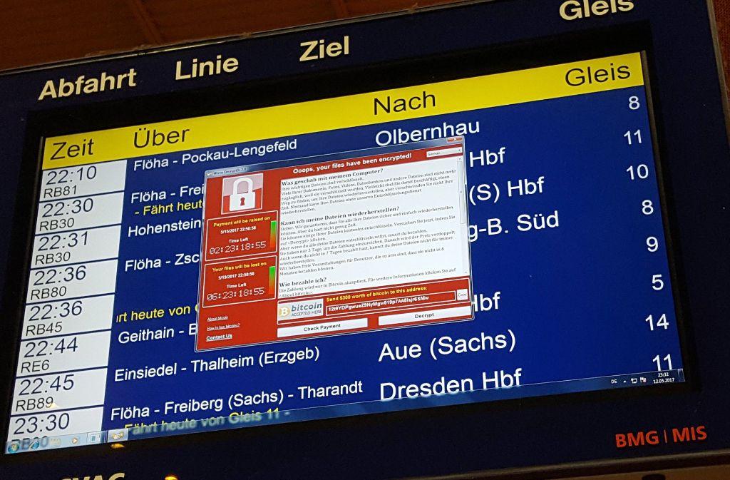 Die Deutsche Bahn ist von der weltweiten Hacker-Attacke massiv betroffen. Foto: dpa