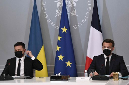 Merkel, Macron und Selenskyj fordern Truppenabbau