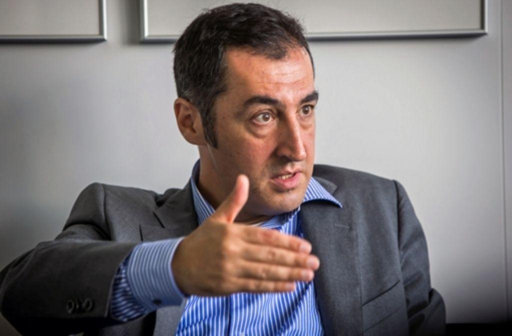 Cem Özdemir, Bundesvorsitzender der Grünen, stellt die Realisierung des Bahnprojekts Stuttgart 21 unter Vorbehalt. Foto: Achim Zweygarth