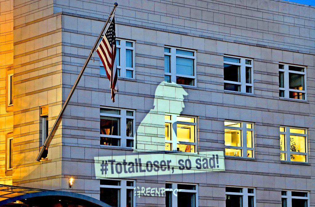 Donald Trump – in den Augen von Greenpeace ein Loser, ein Verlierer. Foto: AP