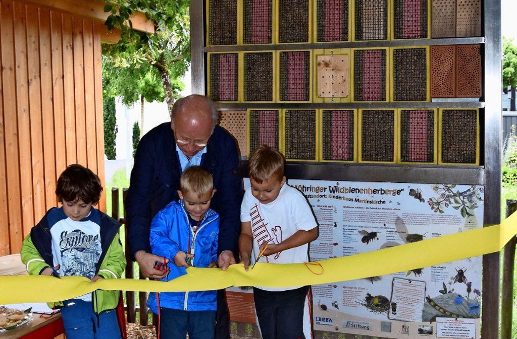 Im Kinderhaus Martinskirche gibt es ein professionelles Insektenhotel. Foto: A. Kratz