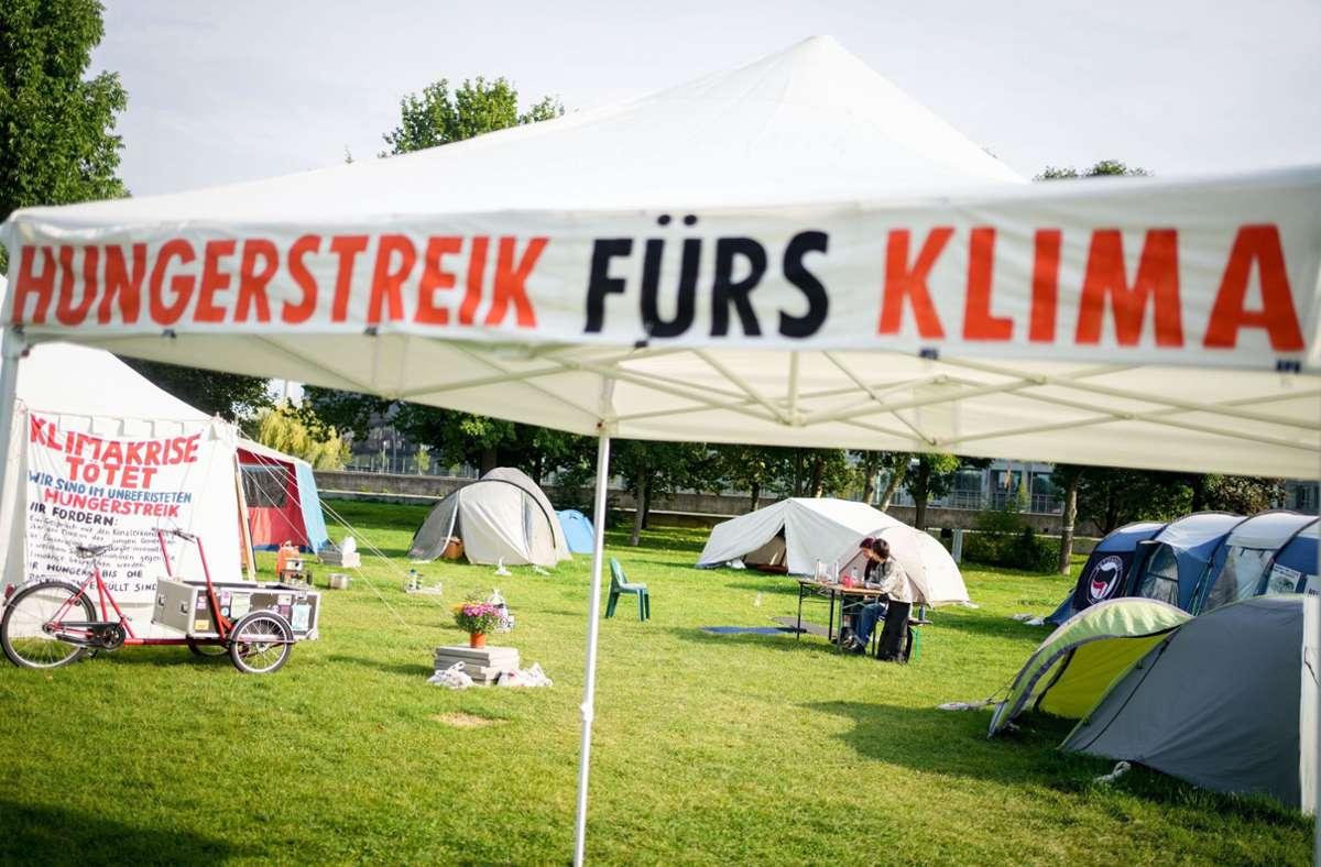 Hungerstreik in Berlin (Archivbild) Foto: dpa/Kay Nietfeld