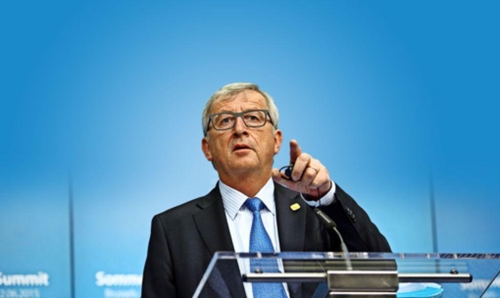 Jean Claude Juncker führt die Kommission selbstbewusst – und mit Witz. Foto:AP