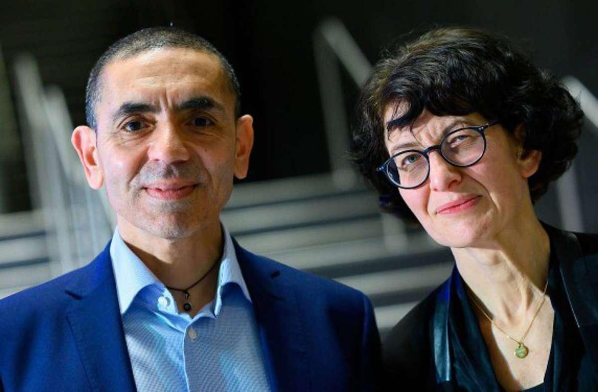 Das Ehepaar Ugur Sahin (links) und  Özlem Türeci hat das Unternehmen Biontech in Mainz gegründet. (Archivbild) Foto: dpa