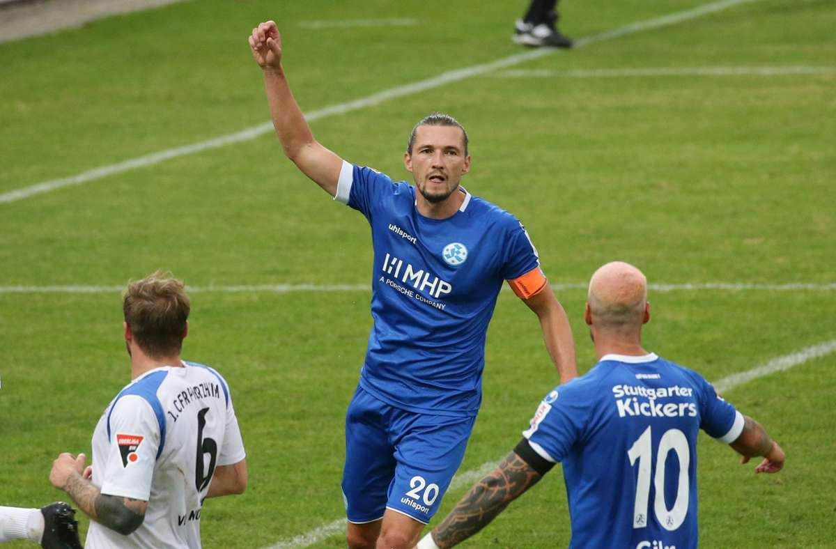 Mijo Tunjic hat per Foulelfmeter das 1:0 erzielt. Foto: Pressefoto Baumann/Hansjürgen Britsch