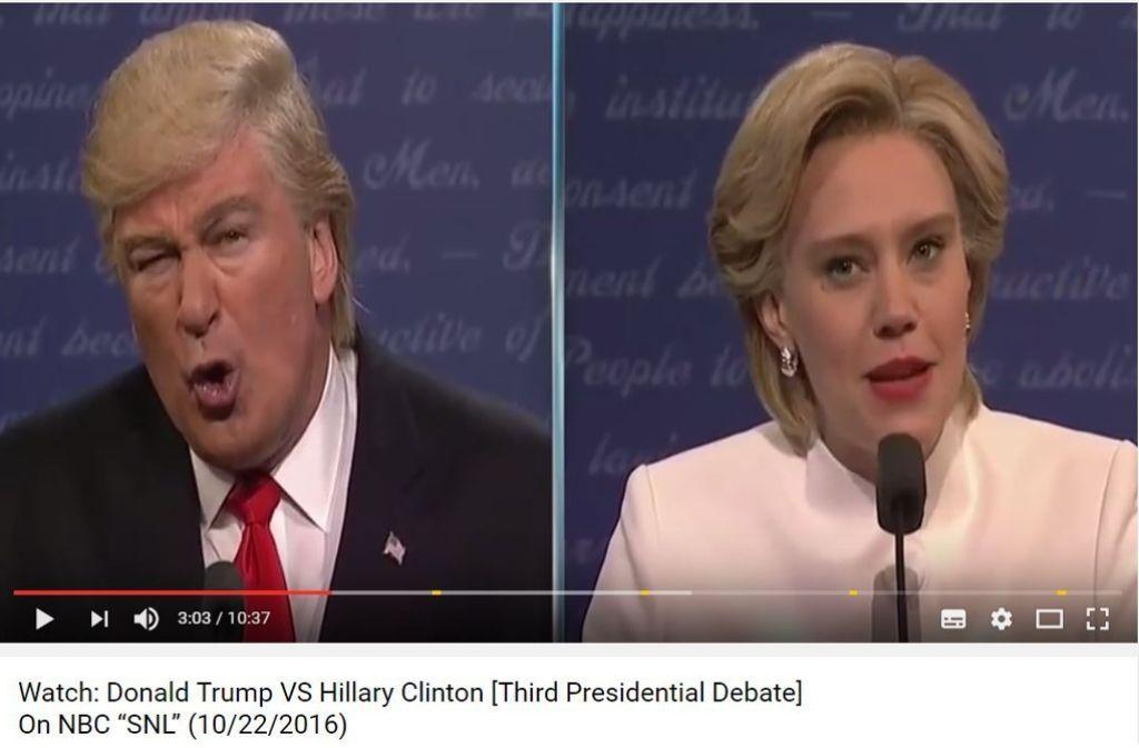Wer ist der bessere Trump? Hier die Parodie von Schauspieler Alex Baldwin. Foto: Youtube/@5 Minuts Ago