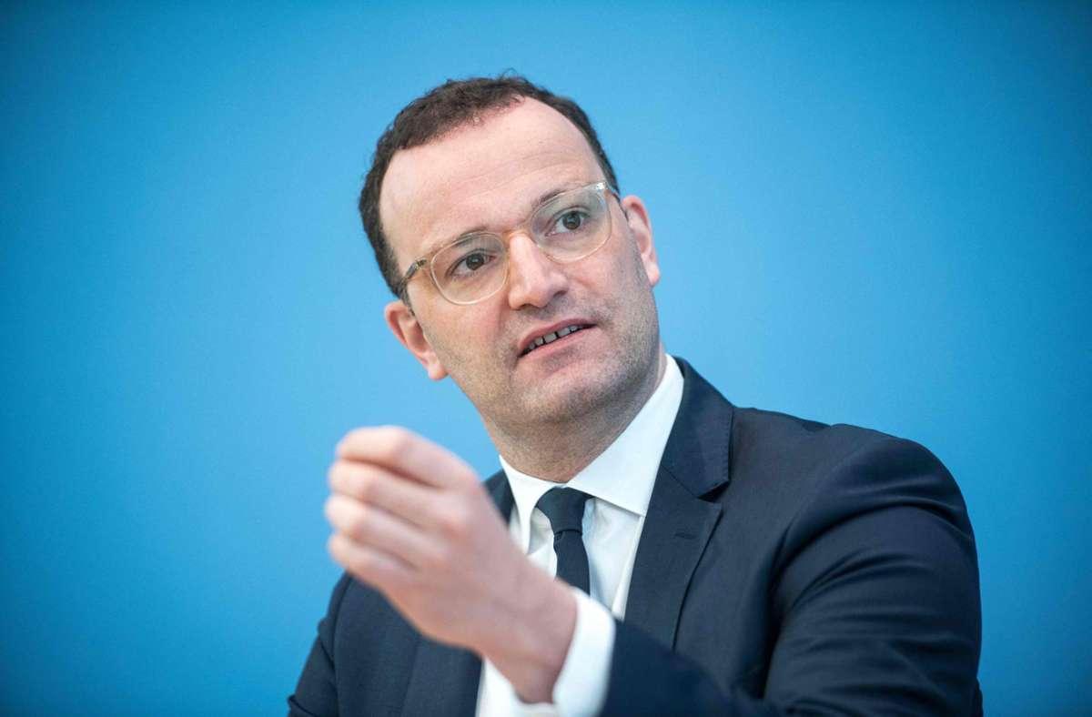 Jens Spahn soll den Curevac -Impfstoff  nicht mehr für die laufende Impfkampagne einplanen. (Archivbild) Foto: AFP/STEFANIE LOOS