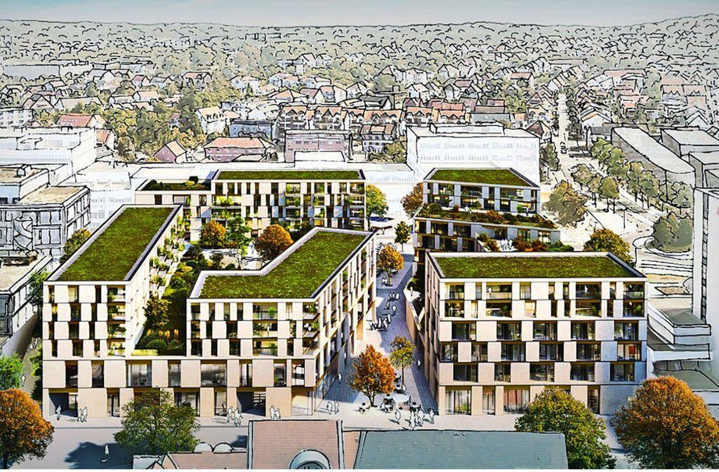 Der Siegerentwurf wirkt durchlässig und sieht auch eine kleine Fußgängerzone  vor. Foto: Steinhoff/Haehnel Architekten GmbH  (2)