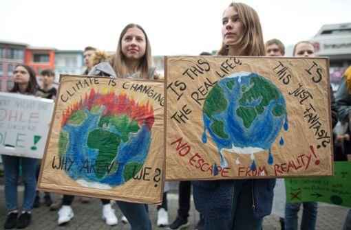 500 Teilnehmer protestieren für mehr Klimaschutz
