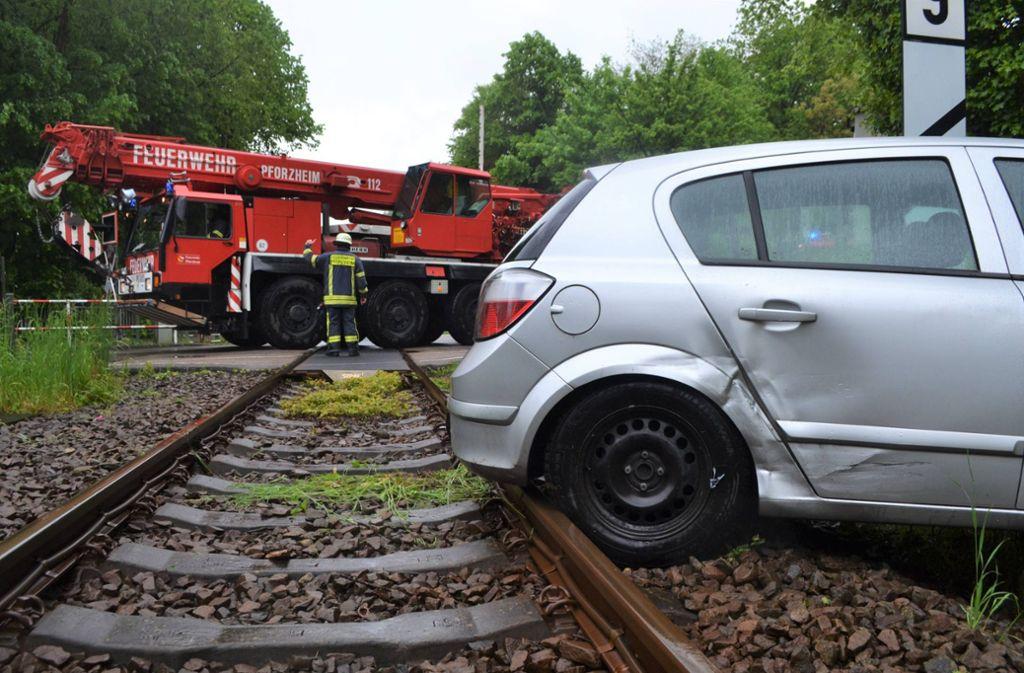 Eine Notbremsung verhinderte  in Pforzheim einen Zusammenstoß. Foto: 7aktuell.de/ igm