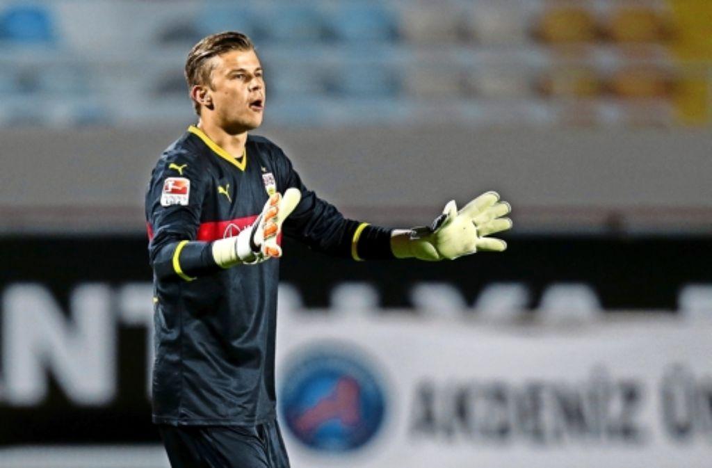 Mitch Langerak will beim VfB in der Rückrunde wieder eingreifen. Foto: Baumann