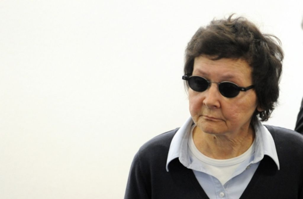 Verena Becker, Ex-RAF-Terroristin, legt Revision gegen das Urteil im Fall Buback ein. Foto: dpa