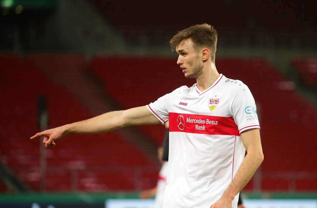Sasa Kalajdzic traf in Leverkusen doppelt, seine Treffer ließen den VfB in den entsprechenden Spielphasen aber nur kurz hoffen. Foto: Pressefoto Baumann/Hansjürgen Britsch