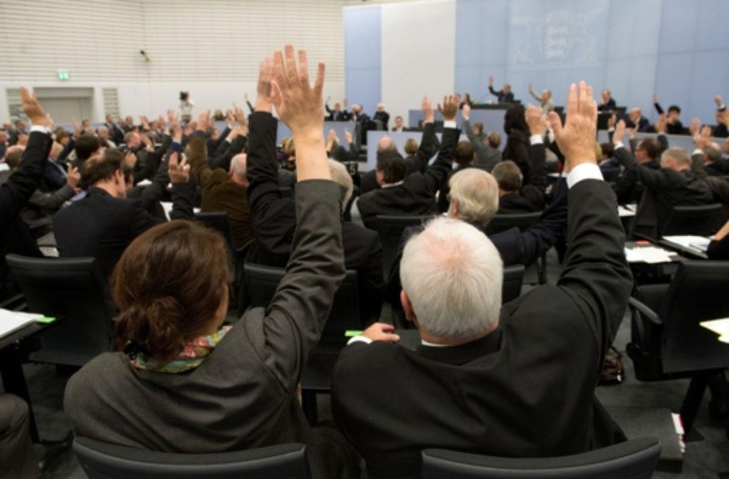 Weiches Polster nach dem Ausscheiden: baden-württembergische Abgeordnete Foto: dpa